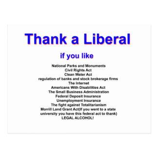 Thank a Liberal Postcard