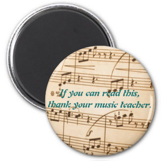 Thank a Music Teacher Magnet