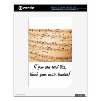 Thank a Music Teacher Nook Skin