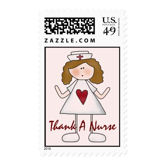 Thank A Nurse Cute Nursing Postage