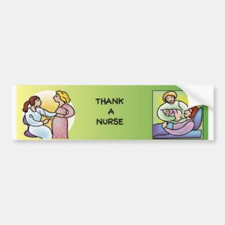 Thank a Nurse - Maternity Bumper Stickers