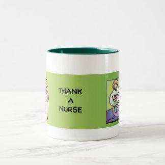 Thank a Nurse Two-Tone Coffee Mug