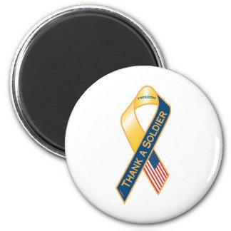 Thank A Soldier 2 Inch Round Magnet