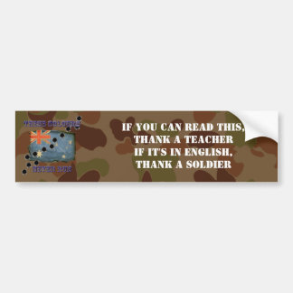 Thank a Soldier Auscam Pattern Sticker Bumper Sticker