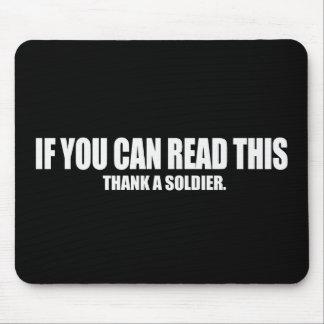 Thank a soldier Bumpersticker Mousepad