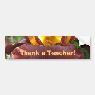 Thank a Teacher! bumper sticker Iris Flower Car Bumper Sticker