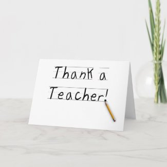 Thank a Teacher Card