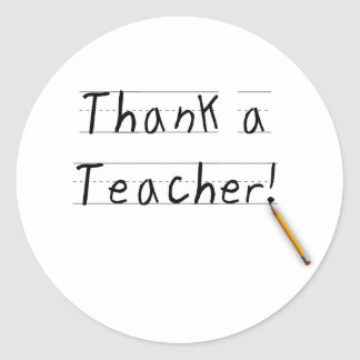 Thank a Teacher Classic Round Sticker