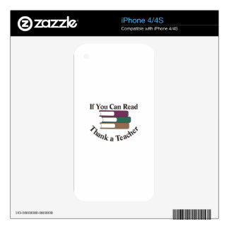 Thank a Teacher Decal For The iPhone 4S