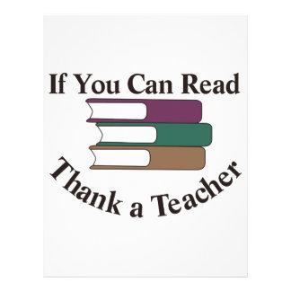Thank a Teacher Letterhead