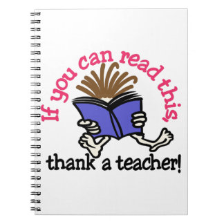 Thank A Teacher Notebook