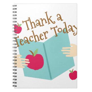 Thank A Teacher Spiral Note Book