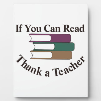 Thank a Teacher Plaque