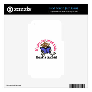 Thank A Teacher Skin For iPod Touch 4G