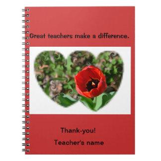 Thank a Teacher Spiral Notebook