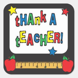 Thank a Teacher Square Sticker