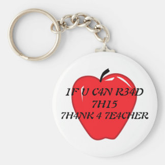 Thank A Teacher Today Basic Round Button Keychain