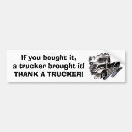 Thank A Trucker Bumper Sticker