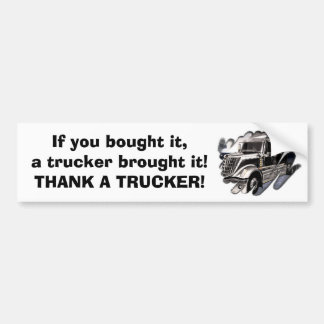 Thank A Trucker Bumper Sticker