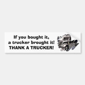 Thank A Trucker Car Bumper Sticker