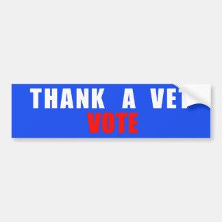Thank A Vet Vote Bumper Sticker