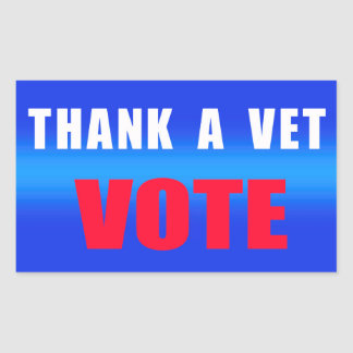 Thank A Vet Vote Stickers