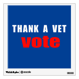 Thank A Vet Vote Wall Decal