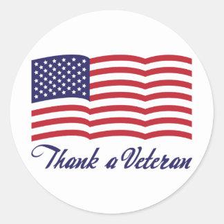 Thank a Veteran Sticker