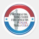 Thank A Veteran VD Sticker