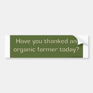 Thank an organic farmer bumper sticker car bumper sticker