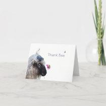 Thank Ewe: A whimsical card