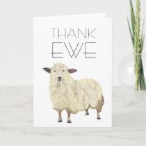"""THANK EWE"" card"