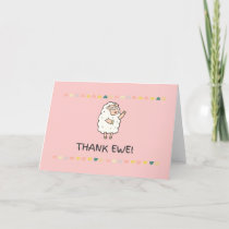 Thank Ewe Cute and Funny Thank You Card