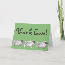 Thank Ewe! Sheep Greeting Card