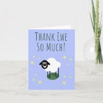 Thank Ewe So Much! - Sheep Pun Thank you card