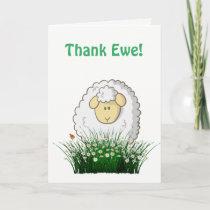 Thank Ewe! Thank You Card