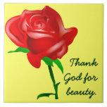 Thank God for Beauty Ceramic Tiles