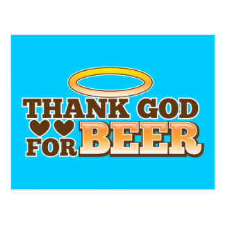 THANK GOD FOR BEER design from The Beer Shop Postcard