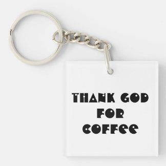 Thank God for Coffee keychain