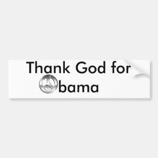 Thank God for Obama Car Bumper Sticker