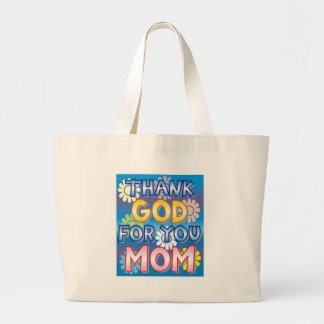Thank God for you, Mom Canvas Bag