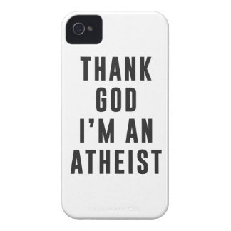 Thank God, I'm an atheist iPhone 4 Case-Mate Case
