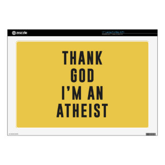 Thank God, I'm an atheist Skin For Laptop