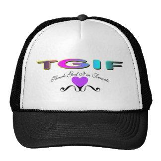 Thank God I'm Female Trucker Hat