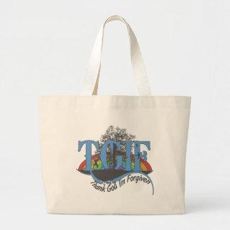 Thank God I'm forgiven TGIF Tote Bag