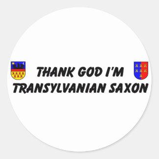 Thank God I'm Transylvanian Saxon Stickers