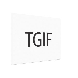 Thank God It s Friday ai Stretched Canvas Print