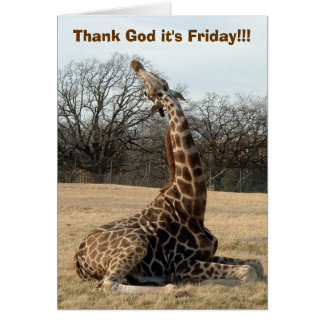 Thank God it's Friday!!! Card