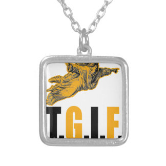 Thank God Its Friday Silver Plated Necklace