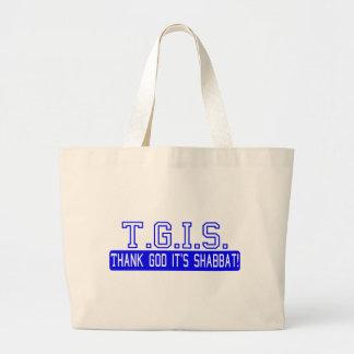 Thank God it's Shabbat! Large Tote Bag